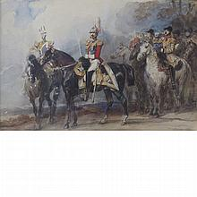 Eugene Louis Lami French, 1800-1890 An Officer of the Life Guards with State Trumpeters
