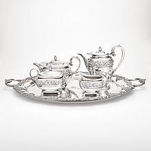 Assembled George III Silver Tea Service
