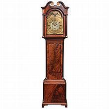 George III Inlaid Mahogany Longcase Clock