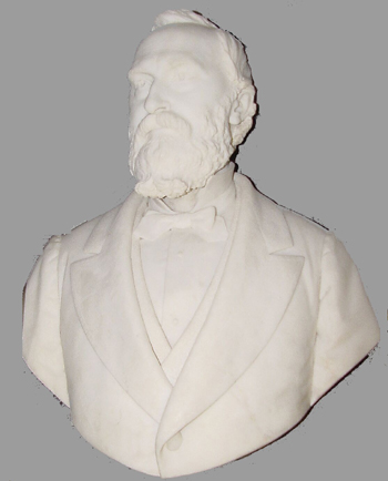 Salvatore Albano Italian, 1841-1893 BUST OF AN ELEGANT GENTLEMAN