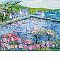 Yolande Ardisonne French, b. 1927 Les Hortensias Roses (The Pink Hydrangeas)