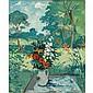 Nicolai Cikovsky American, 1894-1984 Flowers on a Blue Table