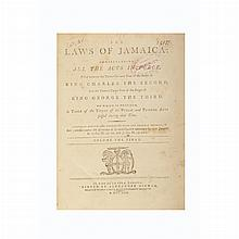 [JAMAICA] The Laws of Jamaica: comprehending all the Acts in force...Volume the First...[Volume the Eighth]. The first...