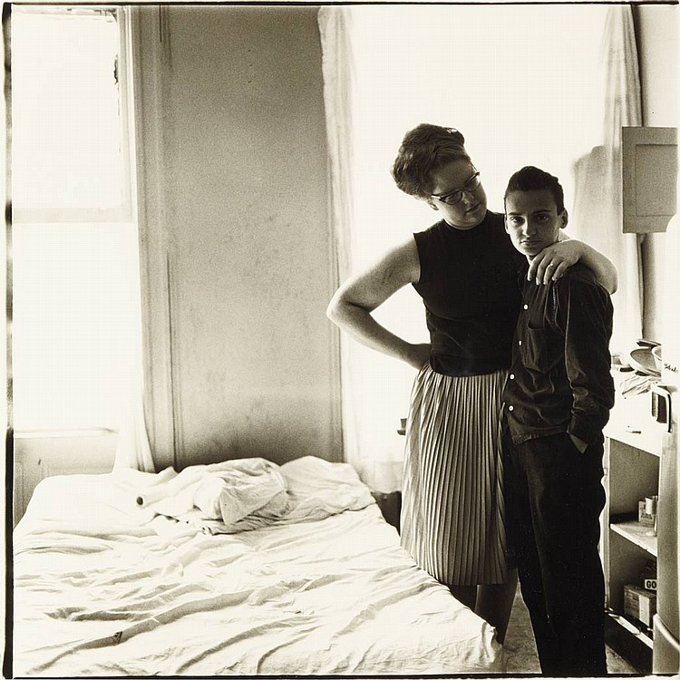 ARBUS, DIANE Two friends at home, N.Y.C. 1965.