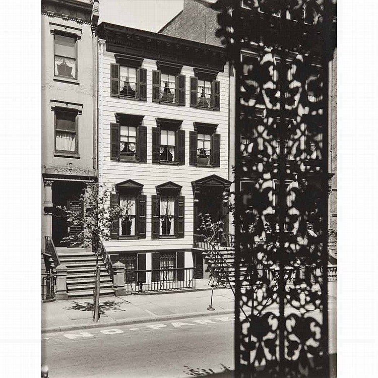 ABBOTT, BERENICE (1898-1991) Willow Street # 104, B'klyn NY May 14, 1936.