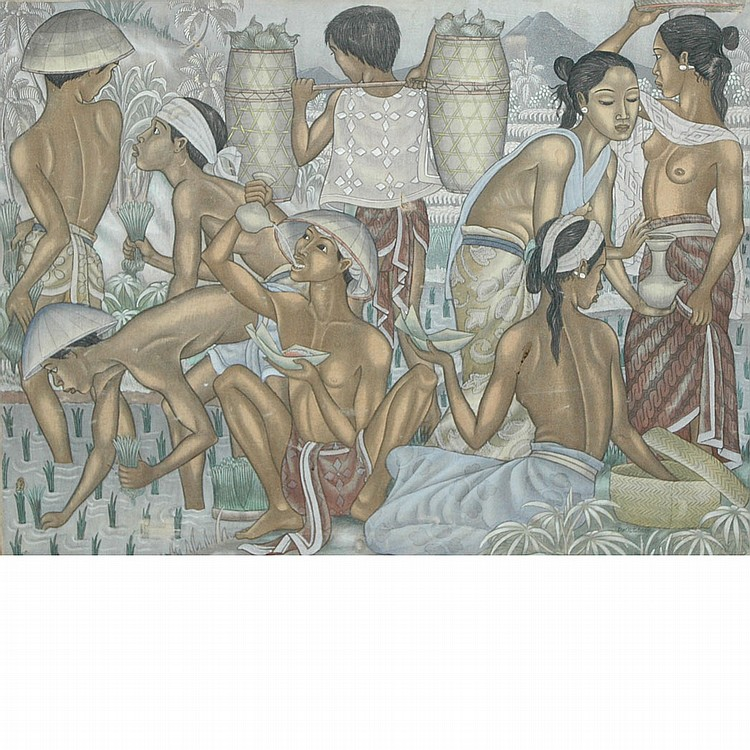 Dewa Putu Bedil Indonesian, 1921-1999 Villagers