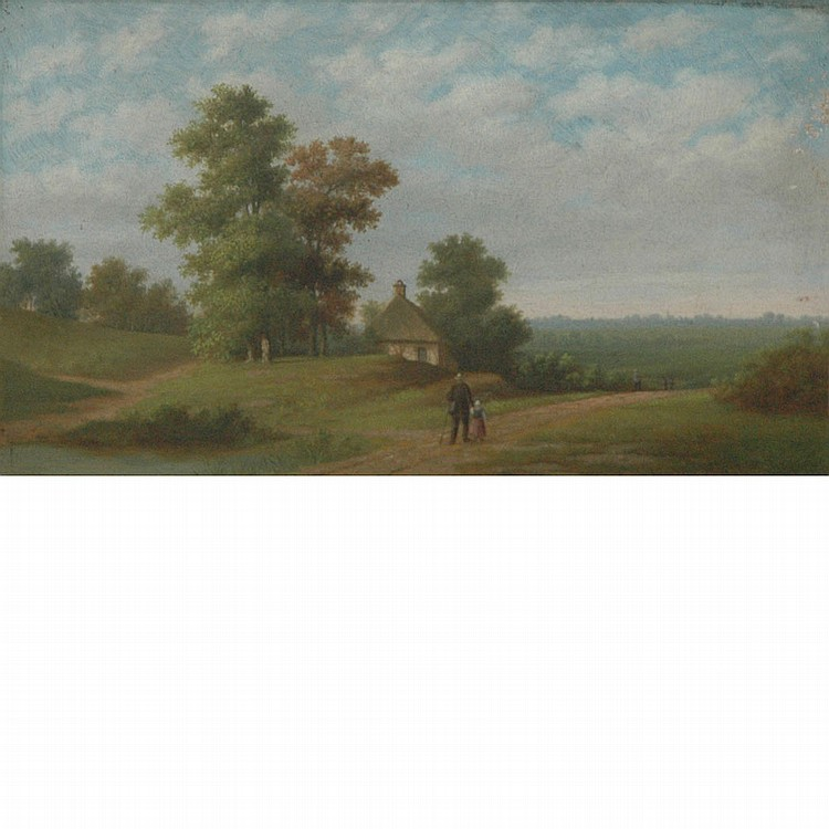 Ferdinand Bonheur French, 1817-1887 Country Road