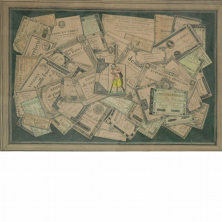 French School 18th/19th Century Trompe l'Oeil of Counterfeit Money