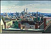 Vincent Jannelli American, 1882-1962 View Across the Newark Rooftops to New York, 1934