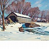Emile Albert Gruppe American, 1896-1978 Covered Bridge - Vermont, circa 1940s