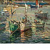 Antonio Cirino American, 1889-1983 Boats in Pigeon Cove Harbor