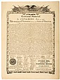 DECLARATION OF INDEPENDENCE 1876 Centennial, Advertising Broadside