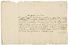 1704 New York Document Signed by Cross Dressing Transvestite Governor CORNBURY