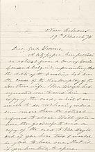 1876 Ex: Confererate President JEFFERSON DAVIS Autograph Letter Signed