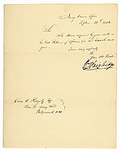 Autograph Letter Signed by William Bainbridge, U.S. Commodore during War of 1812