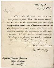 Major General JOHN ARMSTRONG Signed Autograph Letter, War of 1812 Sec. of War