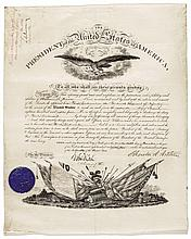 Military Appointment for WILLIAM S. DAVIES, Signed President CHESTER A. ARTHUR