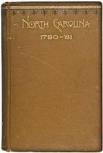1889 First Edition Hardcover Book entitled NORTH CAROLINA 1780-81..