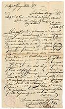 Autograph Letter Signed COL. CLEMENT BIDDLE Commissary General at Valley Forge