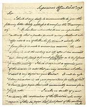 1798 JOHN CHESTER Autograph Letter Signed Connecticut Historical Letter