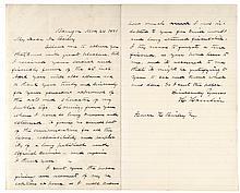 HANNIBAL HAMLIN Handwritten Letter Abraham Lincoln's Vice President