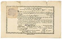 New Hampshire Appointment Document Signed by JOHN TAYLOR GILMAN