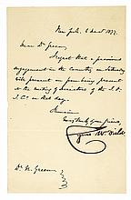 CYRUS W. FIELD, Atlantic Telegraph Founder Signed Letter