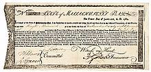 Massachusetts. Commodity Bond Treasury Certificate 1780. Rev War. Anderson MA-20