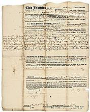 December 1, 1743,  Currency-Related Mortgage Document