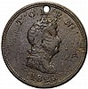 1820 North West Company Token. Struck in Brass. W-9250 Breen-1083 Very Fine