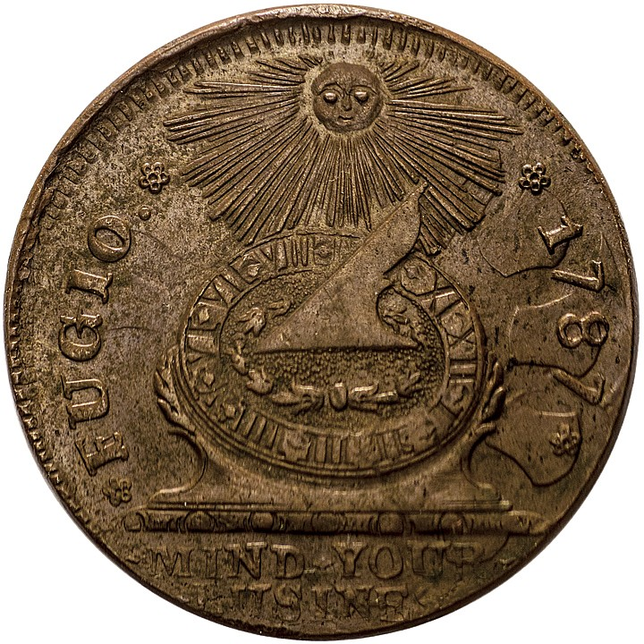 1787 Fugio Cent. STATES UNITED. Newman 11-X. Gem Mint State