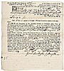 (BENEDICT ARNOLD, III)  Legal Document 1754 Signed by the Judge Isaac Huntington