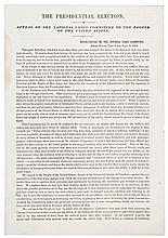 1864 Presidential Election Civil War Period Broadsheet