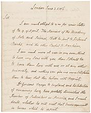 Superb 1786 JOHN ADAMS Autograph Letter Signed as Minister to Great Britain