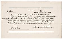 1865 Civil War $300 Commutation Bounty Substitute Soldier Receipt