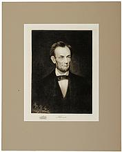 c.1901 Drawing of Lincoln by F.B. Carpenter