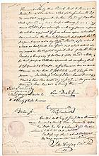 WILLIAM THORNTON, Designer of the U.S. Capitol Building Document Signed 1820