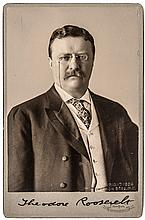 Copywrite 1904, Exceptional Cabinet Photograph Signed THEODORE ROOSEVELT