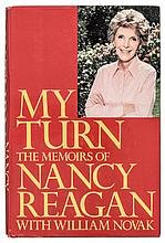 NANCY REAGAN. Autographed First Edition: My Turn: The Memoirs of Nancy Reagan