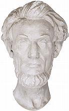 c. 1865, Life-Mask Memorial Era Plaster Cast of Abraham Lincoln's Head