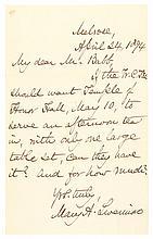 Womens Temperance MARY LIVERMORE Autograph Letter Suffragettes WCTU