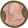 Encased Postage Stamp, EP-34b, 3¢, AYERS SARSAPARILLA, Large