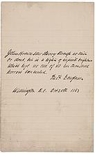 Rare 1883 Autograph Quotation Signed FREDERICK DOUGLASS on JOHN BROWN !