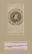 JEFFERSON DAVIS Autograph & Photograph, President Confederate States of America