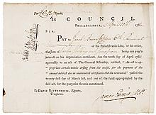 Autograph Document Signed JAMES EWING as V.P. of PA, Brigadier General