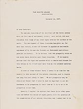 Typed Letter Signed THEODORE ROOSEVELT as 26th President of the United States