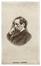Author CHARLES DICKENS 1860s Carte de Visite Photograph