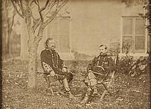 Rare Brady Photograph of Civil War Generals GEORGE CUSTER & ALFRED PLEASONTON