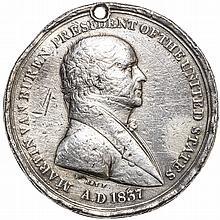 1837 Martin Van Buren SILVER INDIAN PEACE MEDAL Julian IP-19 51mm Extremely Rare