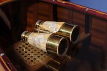 Collectors Edtion Binocular w MOP overlay in wood box